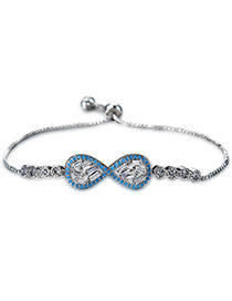 Personality Silver Color Bowknot Shape Decorated Bracelet