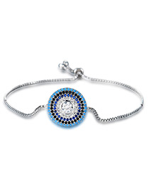 Personality Silver Color Round Shape Decorated Bracelet