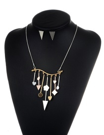 Fashion Silver Color+gold Color Geometric Shape Pendant Decorated Simple Jewelry Sets