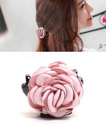Elegant Pink Flower Decorated Hairpin