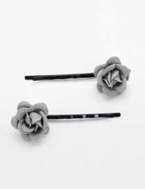 Lovely Light Gray Flower Decorated Hairpin