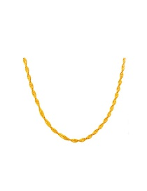 Elegant Gold Color Pure Color Decorated Simple Long Chain Necklace