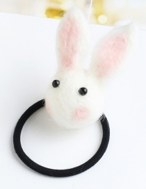 Lovely White Cartton Rabbit Decorated Pure Color Hairpin