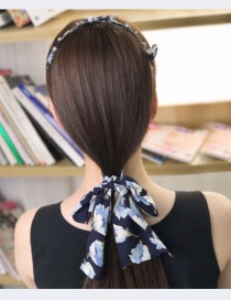 Fashion Navy Rabbit's Ears Decorated Hair Clasp