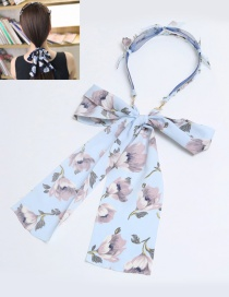 Fashion Light Blue Rabbit's Ears Decorated Hair Clasp
