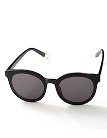 Fashion Black Pure Color Decorated Anti-ultraviolet Children Sunglasses