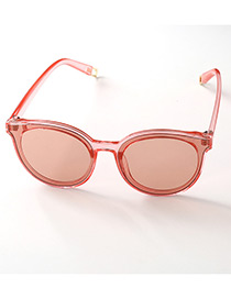 Fashion Red Pure Color Decorated Anti-ultraviolet Children Sunglasses
