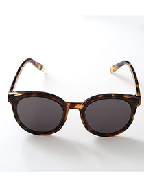Fashion Brown Leopard Decorated Anti-ultraviolet Children Sunglasses