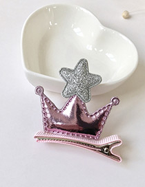 Fashion Pink Crown&star Decorated Simple Hairpin
