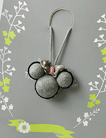 Fashion Gray Mickey Pendant Decorated Simple Children Choker