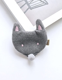 Fashion Gray Cartoon Fox Decorated Pure Color Hairpin