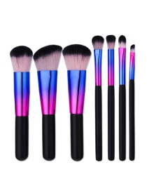 Fashion Black Color Matching Decorated Makeup Brush(7pcs)