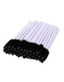 Fashion Black Color Matching Decorated Eyelash Brush (50pcs)