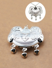 Fashion Silver Color Bells Decorated Pure Color Simpe Pendant( Without Chain)