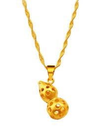 Fashion Gold Color Gourd Decorated Hollow Out Simple Pendant ( Without Chain)
