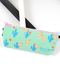 Fashion Multi-color Flamingo Pattern Decorated Color Matching Pencil Case