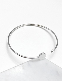 Fashion Silver Color Pure Color Decorated Bracelet Open Bracelet