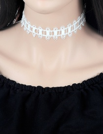 Vintage White Hollow Out Decorated Choker