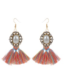 Bohemia Multi-color Round Shape Decorated Earrings