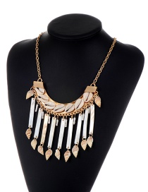 Bohemia White Shell Pendant Decorated Tassel Necklace