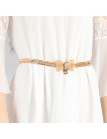 Fashion Gold Color Bowknot Shape Decorated Belt