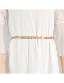 Fashion Gold Color Heart Shape Decorated Belt