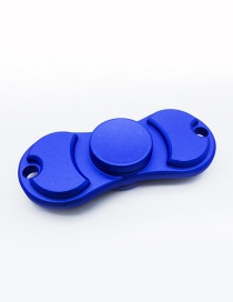 Fashion Blue Pure Color Decorated Spinner