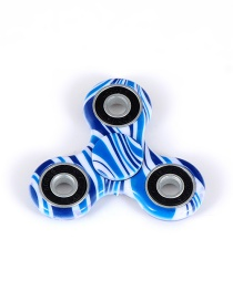 Fashion Blue+white Color-matching Decorated Spinner