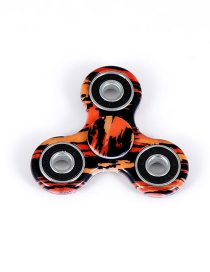 Fashion Black+orange Color-matching Decorated Spinner