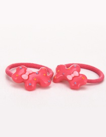 Lovely Plum Red Little Dogs Decorated Simple Hair Band (2pcs)