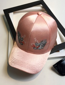 Fashion Pink Embroidery Dragon Pattern Decorated Baseball Cap