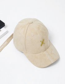 Fashion Khaki Embroidery Letter Pattern Decorated Baseball Cap