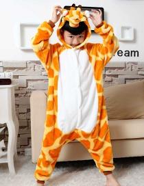 Fashion Yellow Giraffe Shape Decorated Simple Chid Nightgown