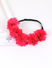 Fashion Plum Red Flower Decorarted Pure Color Simple Hair Ring