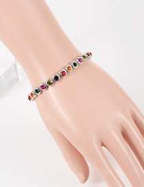 Fashion  Diamond Decorated Color Matching Bracelet