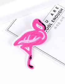 Fashion Pink Embroidery Swan Decorated Pure Color Brooch