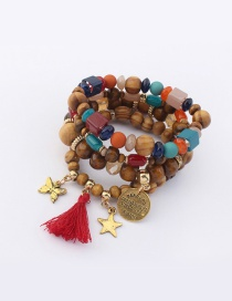 Vintage Multi-color Butterfly&stars Decorated Multi-layer Bracelet