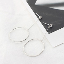 Fashion White Circular Ring Decorated Pure Color Earrings