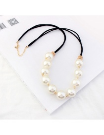 Personalized Gold Color Pearls Decorated Double Layer Necklace